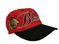 Chicago Blackhawks Snapback Hat The Game Adjustable Big Logo Hockey NHL VTG