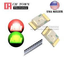 100PCS 1206 (3227) SMD SMT LED Diodes Two-color Bi-Color Red&Green Light USA