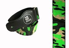 NEON verde e militare verde mimetico Cinghia per Chitarra (3070) Funky Brillante IN PELLE EN