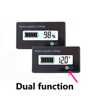12V White LCD Battery Capacity Monitor Gauge Meter for Lead-acid Motorcycle