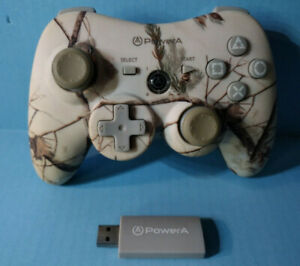 Power A Pro Wireless Pink Camouflage PS3 Controller w/ usb dongle Complete 823