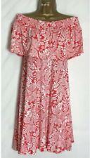 M&S Coral Print Stretch Jersey Bardot Beach Dress  Size 12 Short  (ms-280rt)