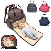 Outdoor Baby Infant Stuff Bottle Diaper Bag Backpack With Diaper Changing Mat