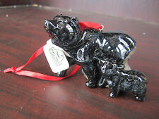 Big Sky Carvers Stonecast Black Momma Bear & Baby Bear Hanging Ornament NEW