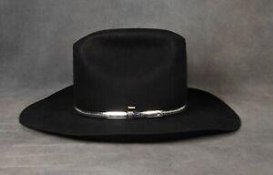 VTG Resistol Black Quicksilver 4XXXX Beaver Long Oval Self-Conforming Hat 7 5/8