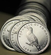 Gem Unc Roll (50) Somaliland Shilling, 1994~1st Coinage Ever Made~Somali Dove~FS