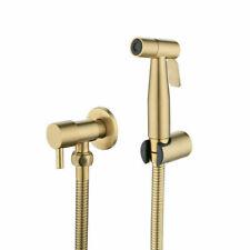 New Brushed Gold SUS Bidet Handheld Shower Toilet Sprayer Hygienic Bidet Set