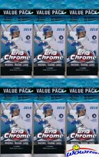 (6) 2019 Topps Chrome Baseball EXCLUSIVE SUPER FAT VALUE PACKS-PINK REFRACTORS