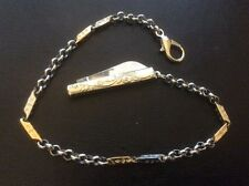 Pocket Watch Chain With Rose Handle Design Knife Fob