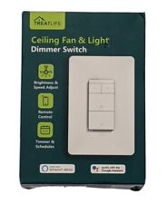 Treatlife Smart Ceiling Fan Control & Dimmer Light Switch, Neutral Wire Needed