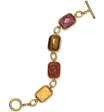 LAUREN Ralph Lauren 'Endless Stones' Bezel Stone Gold-Tone Toggle Bracelet $64