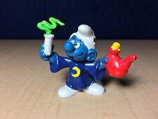 Smurfs 20116 Alchemist Smurf Wizard Rare Vintage Toy Figure PVC Peyo Figurine HK
