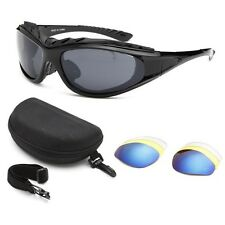 Chopper Wind Resistant Sunglasses Extreme Sports / Motorcycle Riding Glasses Kit