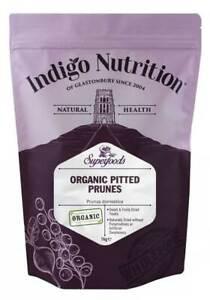 Indigo Herbs Organic Prunes 500g - 1kg Pitted