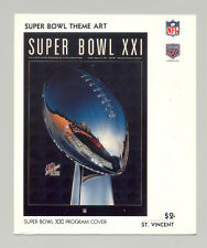 St Vincent #1445 Super Bowl XXI Program Cover Art 1v S/S Imperf Chromalin Proof
