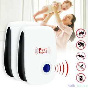 6× Ultrasonic Plug In Pest Repeller Deter Mouse Mice Rat Insect Repellent UK