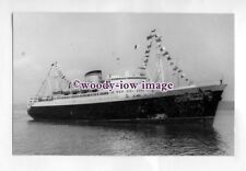 pf2355 - Arosa Line Liner - Arosa Sky , built 1944 fire & sank 1961 - photograph