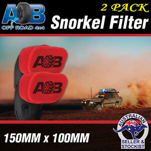 2 X Snorkel Sock Pre Filter Cleaner compatible with UNI FILTER UNIFILTER Safari