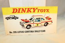 Dinky Toys Poster 717151 No.205 Lotus Cortina Rally Car in excellent+ condition