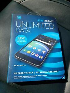 LG Phoenix 4 LM-X210APM - 16GB - Black AT&T Prepaid! BRAND NEW SEALED! RETAIL
