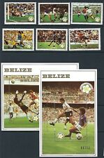 BELIZE :1982 World Cup Football set + Min sheets SG721-6 +MS727 MNH
