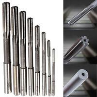 8pcs HSS Machine Reamer Straight Shank End Mill Cutter Drill Bit Tool 3mm-10mm