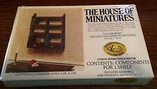 1/12 CHIPPENDALE HANGING SHELF KIT #40032 HOUSE OF MINIATURES OPEN COMPLETE
