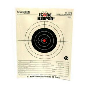 Champion Score Keeper Fluorescent Orange Bull 50-Yard Small Bore Notebook Target