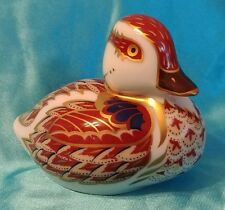 Vintage Crown Royale Duck ling England Porcelain? Statue Ornament Medallion RARE