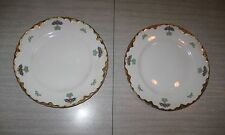 """Vintage Clinchfield China Plates (Two), Before 1938, 7"""" Pie/Dessert, Estate!"""