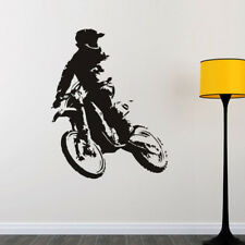 Removable Motocross Wall Sticker Dirt Bike Sports Vinyl Decal Boys Bedroom Gift