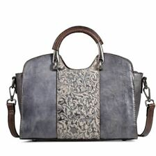 Women Genuine Real Cow Leather Messenger Shoulder Bag Handbag Travel Purse