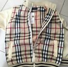 Boys designer Tartan Windbreaker Cream Coat Jacket size 12-24 months, 2,3,4, 5