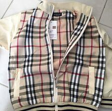 Boys designer Tartan Windbreaker Cream Coat Jacket size 12-24 months, 2,3,4, 5