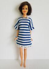 FRANCIE DOLL CLOTHES Retro Striped Dress & Jewelry Handmade Fashion  NO DOLL d4e