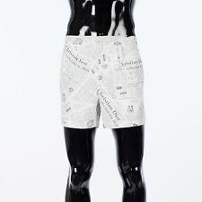DIOR x DANIEL ARSHAM 750$ Newspaper Print Shorts In Silk & Cotton