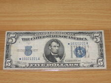 1934 A $5 Five Dollar Circulated Silver Certificate STAR Note Fr. 1651*