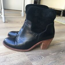 Hudson Black Suede Leather Ankle Boots 5 / 38