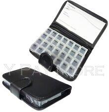 7 Days Pill Wallet Tablet Medicine Organiser Holder Dispenser Box Black Case