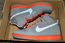 New Nike Mens Dunk High Athletic Shoes Light Charcoal Team Orange 317982-012  9