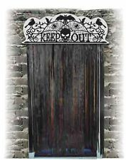 Halloween Decoration Door Topper Keep Out Scary Decor Horror Spooky
