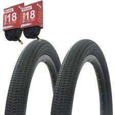 """1PAIR! Bicycle Bike Tires & Tubes 18"""" x 2.10"""" Black/Black Side Wall P-1208"""