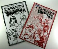 Dynamite DAWN / VAMPIRELLA #1 Convention RED SKETCH + #2 VARIANT NM Ships FREE!
