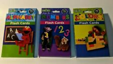 3 Pack Sesame Street. Elmo.Flash Cards 36 cards each ~ Colors, Numbers, Alphabet