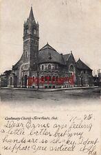 1906 TERRE HAUTE IN Centenary Church, to Miss Ernie Becht in Watervliet Michigan