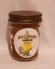 Buttered Rum Jar Triple Scented Candle 8 oz Hand Made