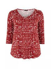 Evans Rust Printed 3/4 Sleeve Top,Tunic - BNWT - Plus Size 22/24