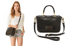 MARC By MARC JACOBS TOO HOT TO HANDLE SMALL BAG Black Leather Crossbody Satchel