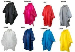 Kinder Regenponcho Tragetasche Poncho Überwurf Kapuze Mantel Regencape One Size