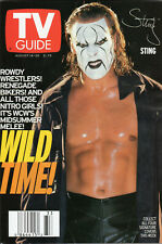 1999 TV Guide - Sting - WCW - Halle Berry - Rodman - Norris - Sorbo - Hung